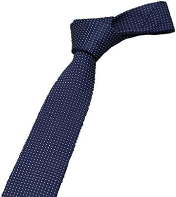 Y-WEIFENG Corbata de Seda Estilo Boutique Corbata Azul Oscuro ...