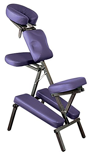 (NRG Grasshopper Portable Massage Chair - Purple)