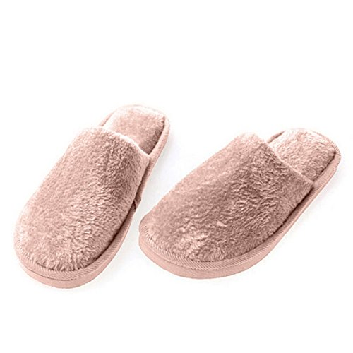 Slippers Brown Warm Candy Color Men Qianle And Soft Super Winter Solid Women Indoor x7PHZq1
