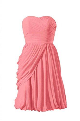 light Coral BM130 14 Short Dress Chiffon Bridesmaid Dress Sweerheart DaisyFormals Evening TzFBwqw