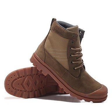 Love & zapatos de hombre y deber de trabajo/zapatos al aire libre/oficina y carrera/atlético/vestido/casual ante botas azul/marrón/Caqui caqui