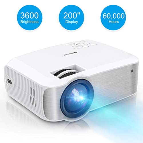 - Video Projector, TOPVISION Full HD LED Projector with 3600Lux 2019 Upgraded, 60,000 Hrs Home Movie Projector 1080P Supported for Indoor/Outdoor, Compatible with Fire TV Stick, PS4, HDMI, VGA, AV, USB
