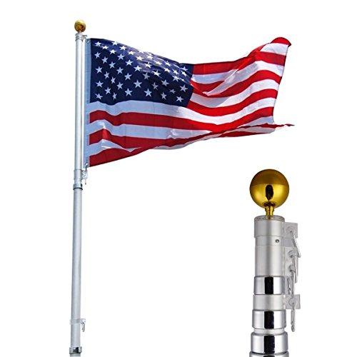 Generic MDB-US9...1200..8....1 US America Flag New Flag Ne 1 US America Flag New Ball Telescoping Flagpole Kit le Kit 25ft Aluminum m Tel Outdoor Gold Ball ft Alum MDB-US9_160811_3550