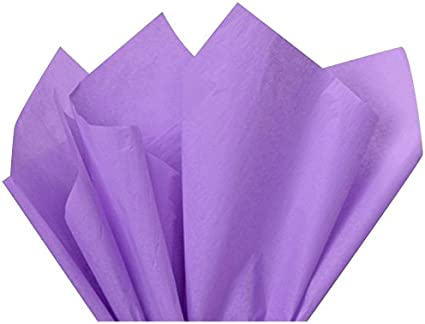 100 Sheets Purple Tissue Paper 15in X 20in