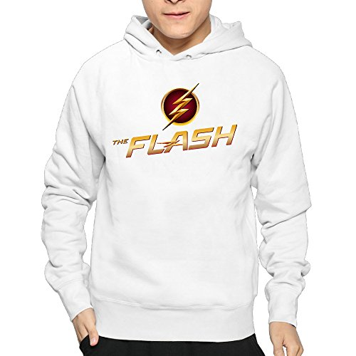 Lightweight 80's Juniors Gentleman The Flash Logo Large Hoodie (The Flash Season 1 Episode 1 compare prices)