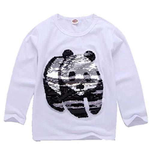 Tsyllyp Kids Girl Long Sleeve T Shirt Clothes Animal Magic Sequin Tee 3-9 Years