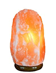 Indus Classic, Himalayan Crystal Salt Lamp 6.5 Inch, 4-6 Lbs Free Cord & Bulb