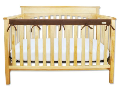 Trend Lab Fleece CribWrap Rail Cover for Long Rail, Brown, Narrow for Crib Rails Measuring up to 8