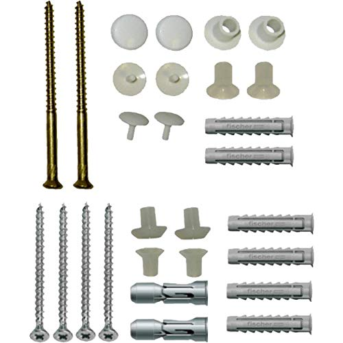 Basin Sink & Toilet Vertical Fixing Kit Bathroom Fixture Connecting Bolts Essentials