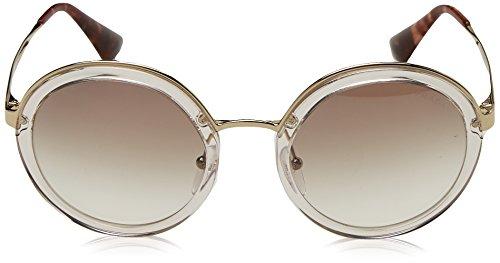 PR Sonnenbrille Prada Marrón Brown Silver Transparent Brown 50TS 6FFqw