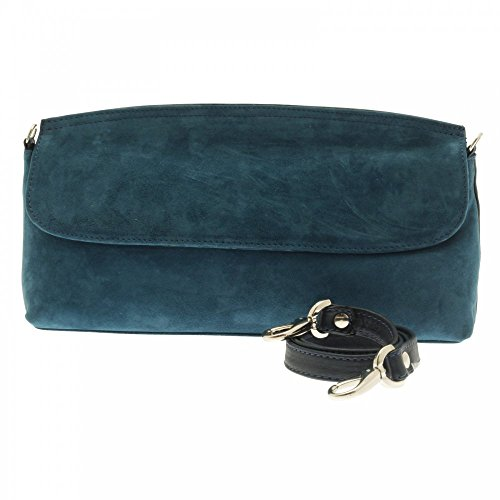 Kennel Und Schmenger Clutch With Strap Petrol Suede