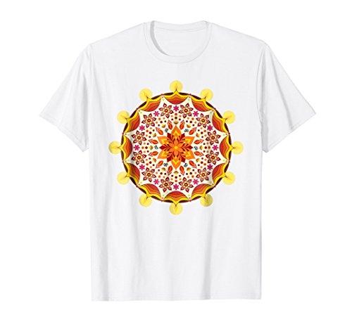 Indian Diwali Light Festival Rangoli Mandala 1 - Fun T-Shirt by EDDArt