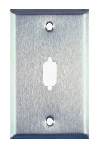 (Allen Tel Products ATBK9 Single Gang, 1 Port, For 1 DB9 Connector Data Stainless Steel Wall Plates)