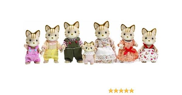 Amazon.es: Sylvanian Families - Juego de figuras de gato: Juguetes y juegos