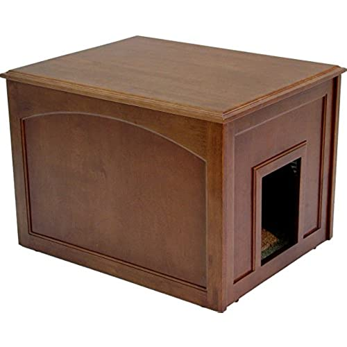 Charmant Crown Pet Products Cat Litter Cabinet, Mahogany