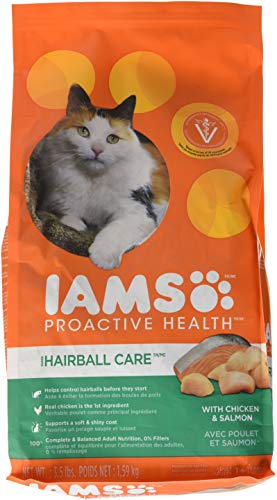 IAMS PROACTIVE HEALTH Hairball Care Dry Cat Food 3.5 Pounds
