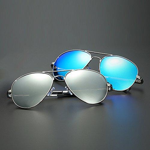 PolariséS UV Miroir TESITE Verres Soleil Hommes Lunettes Silver Protection De 100 D'ExtéRieur pqanq5F
