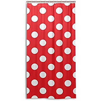 My Daily Classic Red And White Polka Dot Shower Curtain 36 X 72 Inch, Mildew