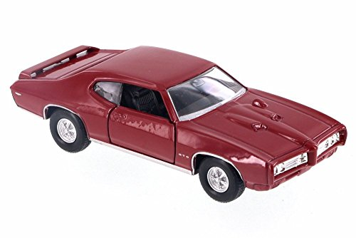 - Welly 1969 Pontiac GTO, Red 43714D - 4.5