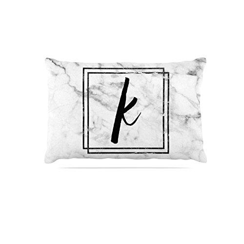 KESS InHouse Kess Original Coral Wreath Monogram Dog Bed, 50  x 40