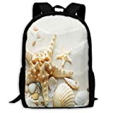 LoveBea Backpack Seashell Womens School Backpacks Personalized Gift