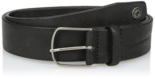 Collection Leather Belt (Diesel Men's Shense Leather Belt, black, 85)