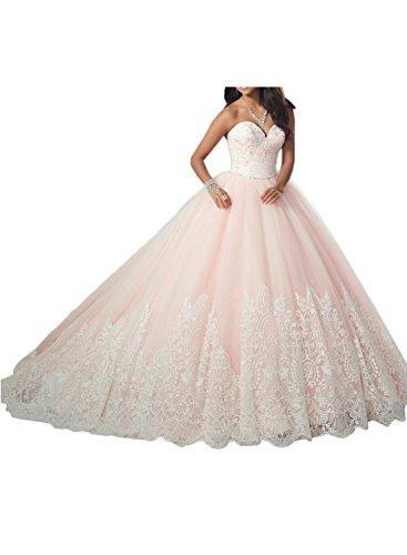 Gorgeous Bride Luxury Herzform Lang Ballon Satin Tüll Spitze A-Linie Abendkleider Lang Cocktailkleider Ballkleider