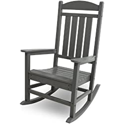 POLYWOOD R100GY Presidential Outdoor Rocking Chair, Slate Grey