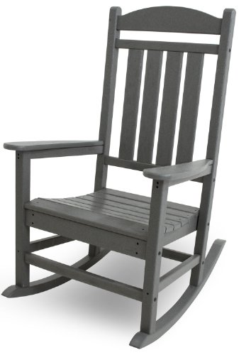 (POLYWOOD R100GY Presidential Outdoor Rocking Chair, Slate)