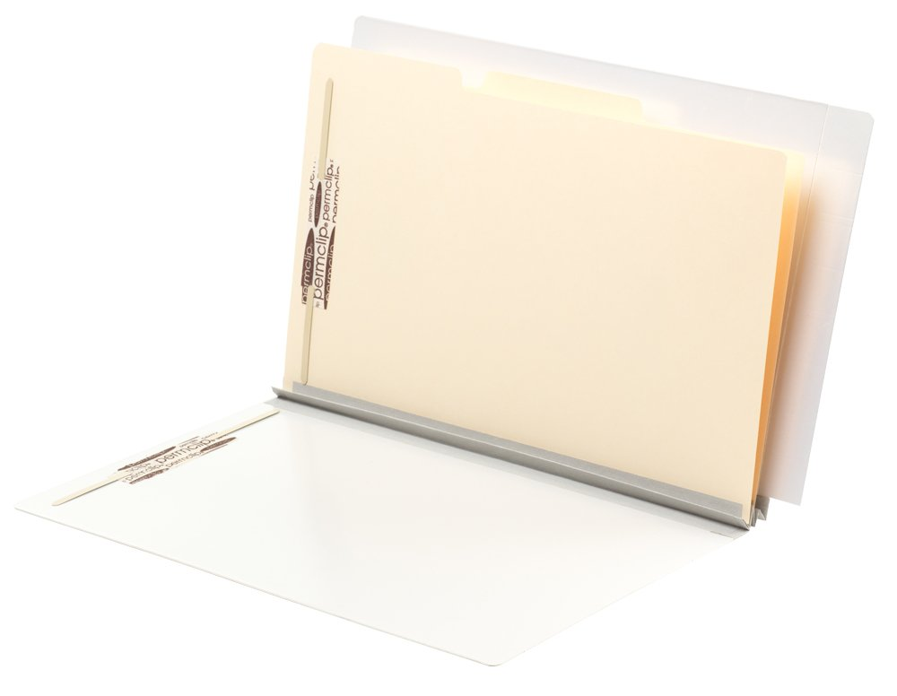 TAB FORTIfile Pressboard Classification Folder 2 Dividers Legal Size Expansion Pearl White 20/Box