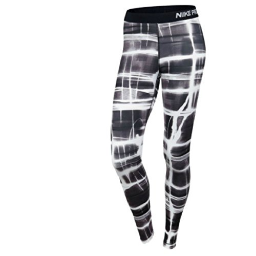 Nike Women's Dri-Fit Pro Printed Compression Training Tights-Black/White/Brown