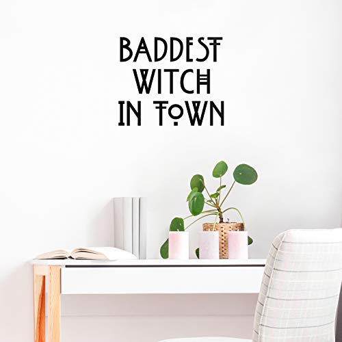 Vinyl Wall Art Decal - Baddest Witch in Town - 18.5