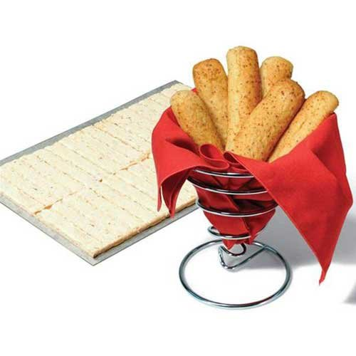 Bridgford White Whole Wheat Cheesy Garlic Breadstick Dough -- 320 per case. by Bridgford (Image #1)