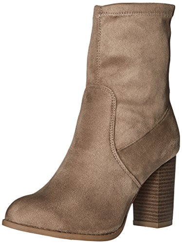 Qupid Women's Zinc-02 Ankle Bootie Taupe mH1Db
