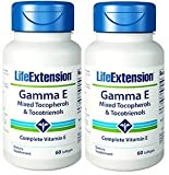 Life Extension Gamma E Mixed Tocopherols & Tocotrienols 60 Softgels (Pack of 2) Review