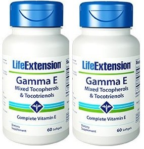 Life Extension Gamma E Mixed Tocopherols & Tocotrienols 60 Softgels (Pack of ()