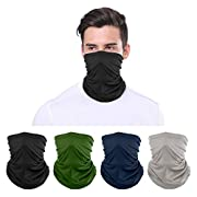 HandyBenri Multifunctional Headwear Bandana 4 Pack Washable Face Coverings Neck Scarf Headscarf, Cycling Motorcycle…
