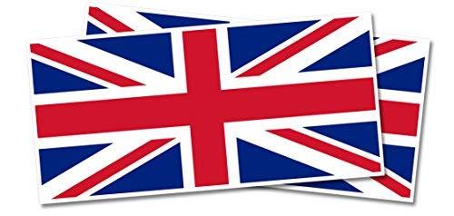 hiusan 2 X British Flag Union Jack Warning Sign Stickers Fun