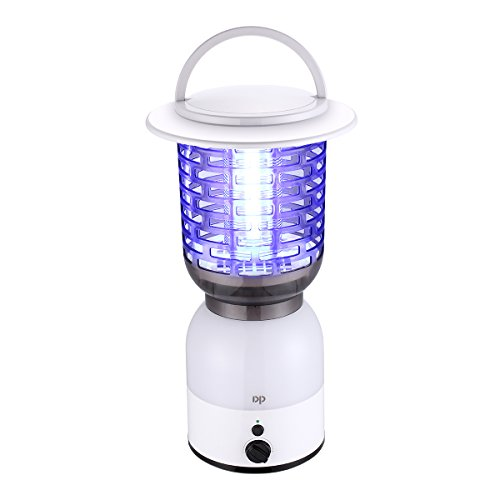 Miady Camping Bug Zapper Rechargeable with 4000mAh Battery Powered 2-in-1 LED Camping Lantern Design for Outdoor Camping Hiking, Mosquitoes,Anti-Mosqu