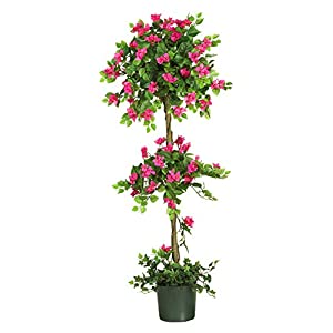 Artificial Tree -5 Foot Mini Bougainvillea Topiary Tree 89