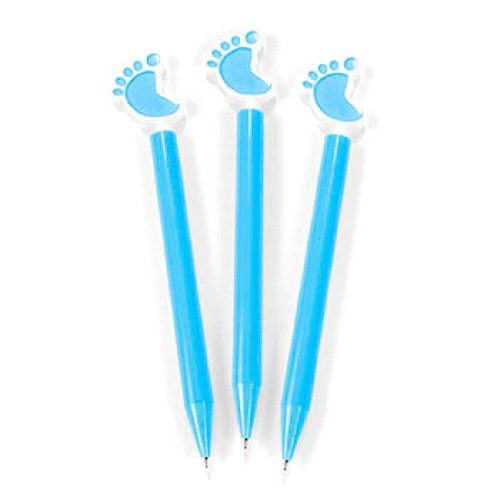Everready First Aid FNEIN-8//448 Lot of 12 Fun Express Baby Boy Blue Plastic Baby Feet Pens Shower Party Favors Set