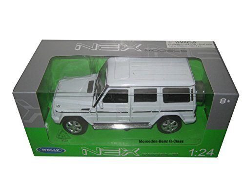 Welly Mercedes Benz G Class Wagon White 1/24 Diecast Model Car