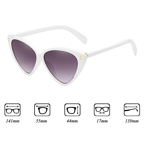 Stylish Cat Sunglasses Eye Sunglasses Triangle C6 Eyeglasses Vintage Highdas Mujeres xBpdn0xr