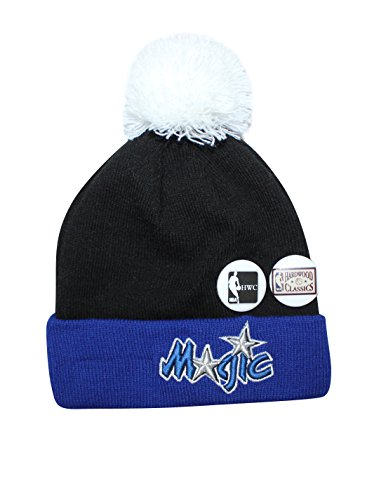 Youth NBA - Orlando Magic Beanie with Removable Pom Pom & Metal Buttons One Size Multicolor by NBA