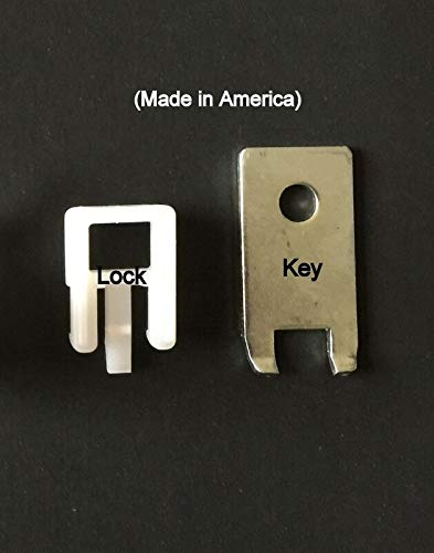 (500 PACK) White Peg Locks. Only Fits Our Plastic Pegboard Hooks (With 20 Keys) by STRIKE (Image #3)