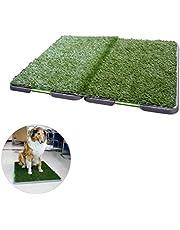 Inodoro para perros Alfombrilla de baño para perros de hierba artificial de interior para cachorros Bandeja para colchoneta de hierba Almohadilla para pis de hierba Antibacteriano para perros grande