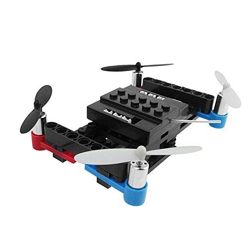 Cewaal BRICOLAGE Blocs de construction moteurs télécommande RC Quadcopter Drone, 4-Channel 6Axis Altitude Hold Drone pour les enfants