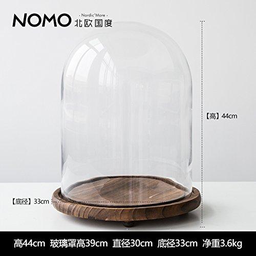 Wood Base Glass Dust Cover Micro Landscape Home Furnishing Decoration Ornaments Ikebana And Zen Big Money