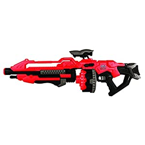 World Tech Toys Prime Motorized Dart Blaster World Tech Warriors, Red, 31 x 6.5 x 11