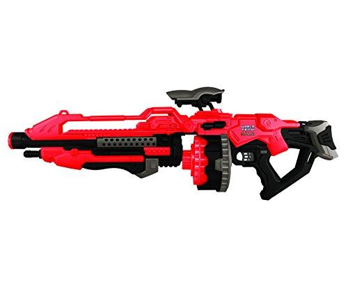 World Tech Toys Prime Motorized Dart Blaster World Tech Warriors, Red, 31 x 6.5 x 11
